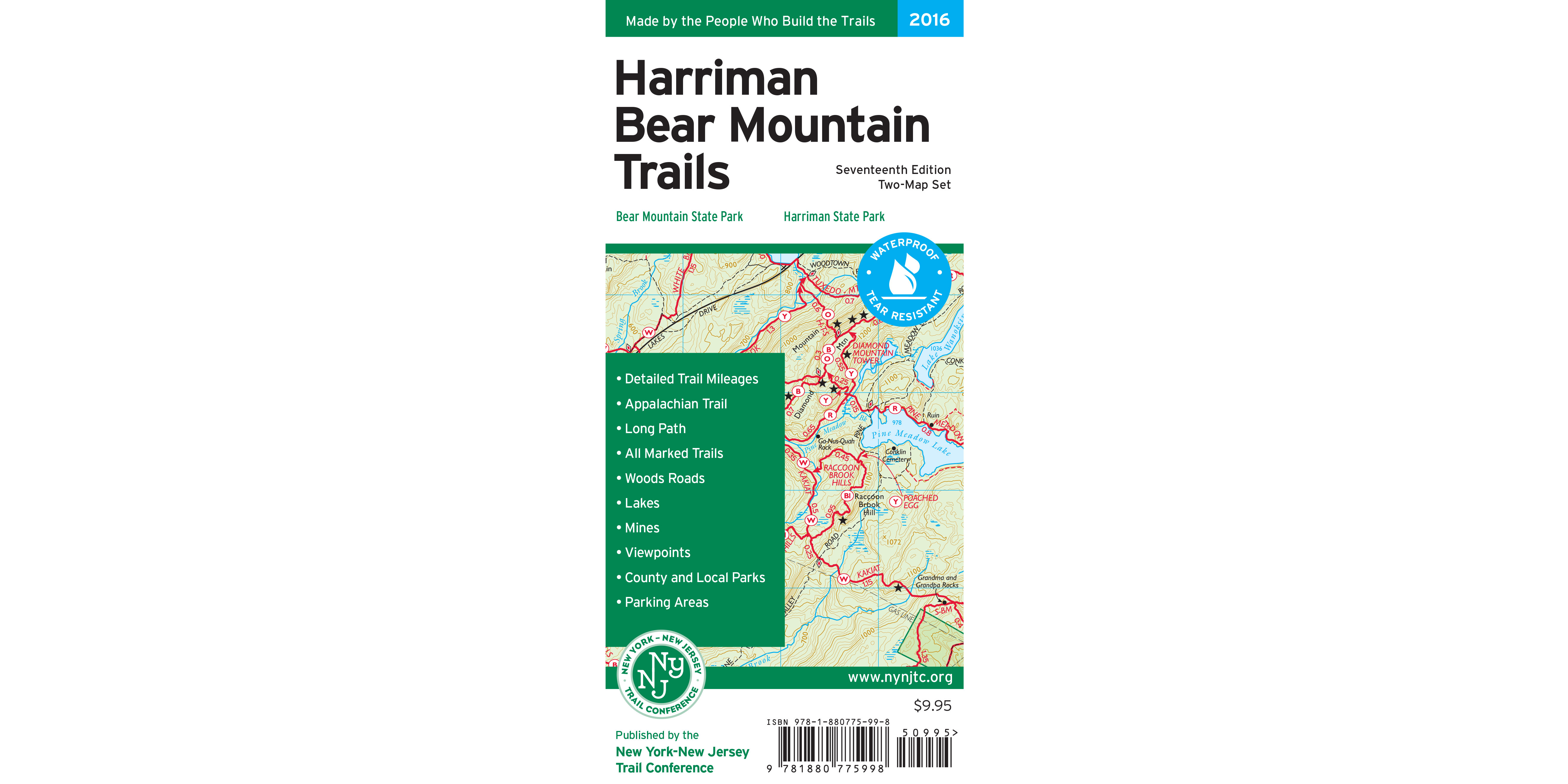 Harriman-Bear Mountain Trails Map Cover
