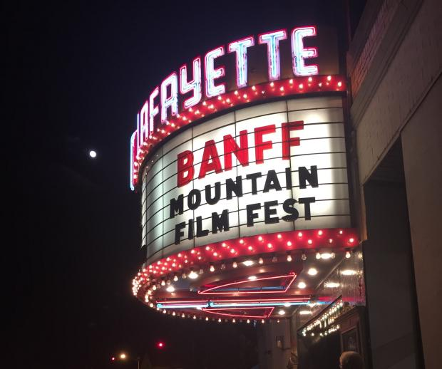 Banff Film Mountain Festival at Lafayette Theater. Photo by Heather Darley.