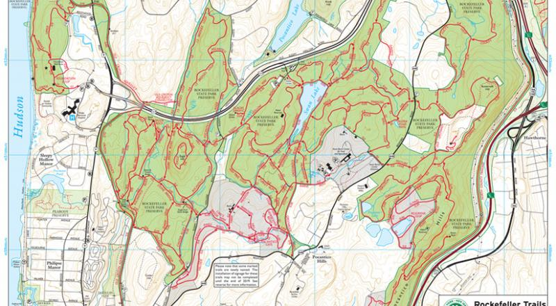 Westchester Trails Map, Rockefeller Map Draft from March 2019. Map by Jeremy Apgar.