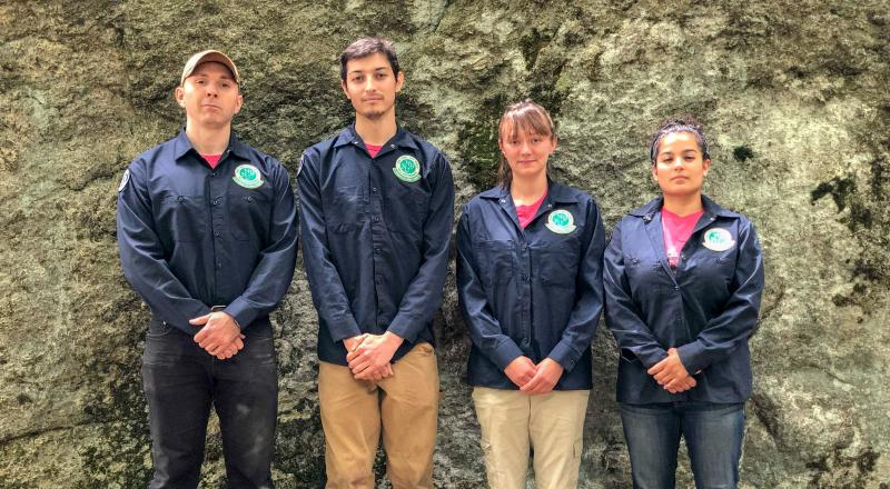 2018 Conservation Corps Ramapo Trail Crew. Photo by Heather Darley.