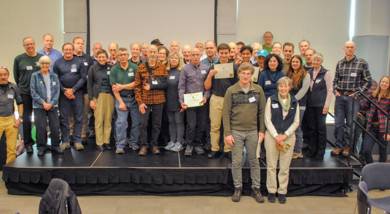 2019 Trail Conference Volunteer Awards. Photo by Heather Darley.