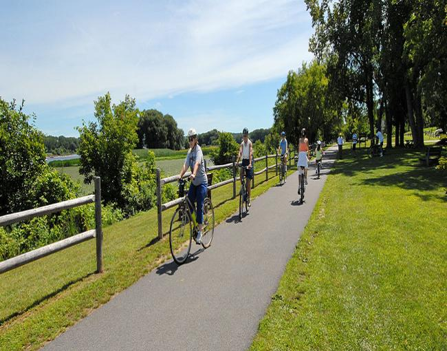 Niskayuna Rail Bike Path on the Empire State Trail. Photo from the Governor Cuomo Press Release