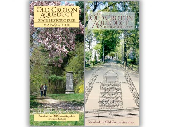 Old Croton Aqueduct Westchester and NYC Map Combo